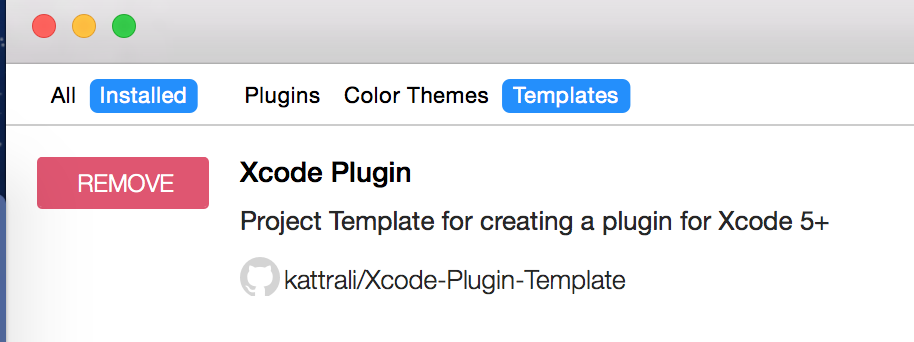 XcodePluginTemplate